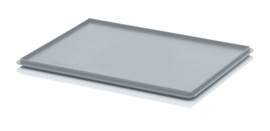 DE64 | AUER oplegdeksel zonder scharnieren, afm. 60x40x2,2 cm (lxbxh), RAL 7001 zilvergrijs, gewicht 665 g