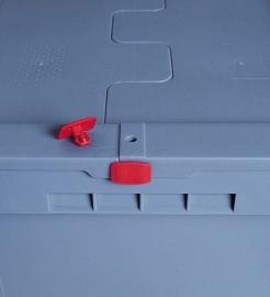 MB-P1 | BITO kunststof zegel met afbreekverbinding, verzegeld de deksel tijdens het transport, kleur rood