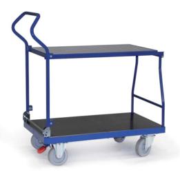 1001120 | ERGOTRUCK combiwagen inklapbaar, 2x laadvlak 950/1000x520/600 mm (lxb), 2 bok- en 2 zwenkwielen incl. centrale vastzetrem, laadvermogen 500 kg