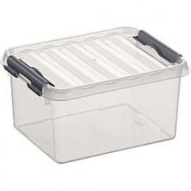 78000609 | SUNWARE Q-Line opbergbox 2,0 liter, transparant/metallic