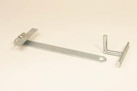 0411104 | FLEXYMOVER verende trekstang 365 mm (l) met trekhaak van gegalvaniseerd staal voor rolcontainers en transportwagens