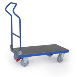 1001100 | ERGOTRUCK platformwagen inklapbaar, 1x laadvlak 1000x600 mm (lxb), 2 bok- en 2 zwenkwielen incl. centrale vastzetrem, laadvermogen 500 kg