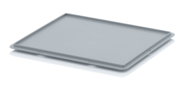 DE43 | AUER eurobox oplegdeksel zonder scharnieren, afm. 40x30x1,8 cm (lxbxh), RAL 7001 zilvergrijs, gewicht 308 g