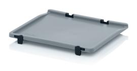 SD43 | AUER eurobox scharnierdeksel, afm. 40x30x1,8 cm (lxbxh), RAL 7001 zilvergrijs, gewicht 340 g