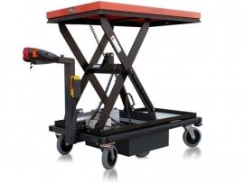 0409001 | FLEXY CART elektrische schaarheftafelwagen ESW1, aandrijving 24Vdc/400W, laadvermogen 500 kg