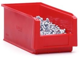 SLK3L-3020 | Kunststof magazijnbak 31,5x15x12,5 cm (lxbxh), rood, gewicht 258 g