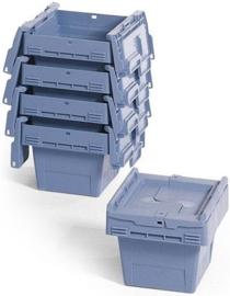 65017 | BITO combikrat incl. klapdeksel, afm 31x20x17 cm (lxbxh), inhoud 5 ltr, stapelbaar, duifblauw