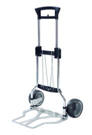 223441 | RUXXAC-cart Cross, steekwagen opvouwbaar, afm. 615/480x1110/720 mm (bxh), laadschep afm. 480x410 mm (bxd), draagvermogen 75 kg, polymeerbanden ø200x95 mm, gewicht  6,3 kg