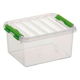 78000661 | SUNWARE Q-Line opbergbox 2,0 liter, transparant/natuur-groen