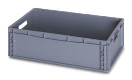 EG6417 | AUER eurobox gesloten uitvoering, afm. 60x40x17 cm (lxbxh), handgrepen open, stapelbaar, RAL 7001 zilvergrijs, inhoud 35 l, gewicht 1,51 kg