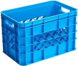 59600311 | SUNWARE Multicrate opberg-/boodschappenkrat, afm. 40x25x26 cm (lxbxh), inhoud 26 liter, stapelbaar, kleur blauw, gewicht 0,85 kg