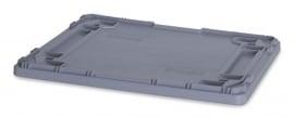 DE86 | Eurobak oplegdeksel zonder scharnieren, afm. 80x60x2 cm (lxbxh), zilvergrijs