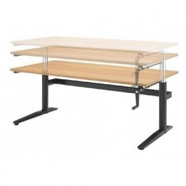 ED4120R | EasyDesk 330, zit-sta bureau/werktafel, handslinger met spindeltechniek hoogteverstelling traploos 61-94 cm, slag 33 cm, bladmaat 120x80 cm (bxd), hefvermogen 100 kg
