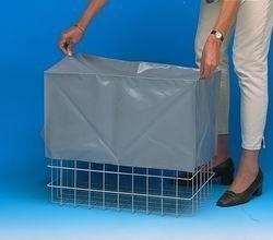 20020075 | PROMAIL afdekhoes t.b.v. 2 gestapelde SUNWARE Square kunststof vouwkrat 32 liter, afm. 500x370x480 mm (lxbxh), PVC gecoat nylon, kleur grijs