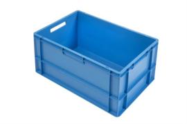 PB6432EC | PLASTIBAC eurobak gesloten uitvoering, afm. 600x400x320 mm (lxbxh), handgrepen open, stapelbaar, inhoud 60l, gewicht 2,7 kg