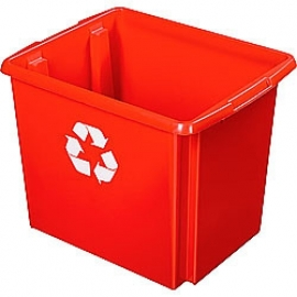 35800649 | SUNWARE Nesta Box Eco, afm. 455x360x360 mm (lxbxh), inhoud 45 ltr, kunststof, kleur rood