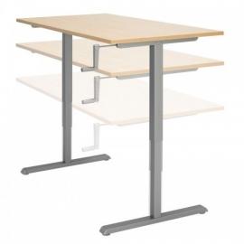 ED5120R | EasyDesk 440, zit-sta bureau/werktafel, handslinger met spindeltechniek hoogteverstelling traploos 66-110 cm, slag 44 cm, bladmaat 120x80 cm (bxd), hefvermogen 100 kg