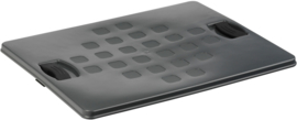 59300336 | SUNWARE Square multifunctionele gesloten boodschappen/opbergkrat, afm. 50x40x26 cm (lxbxh), inhoud 52 liter, stapelbaar, kleur antraciet, gewicht 1,8 kg