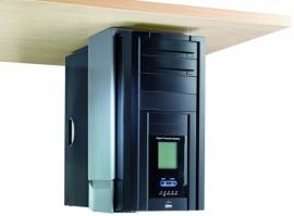 41033150 | CPU-houder, aluminium, hoogte- en breedte instelbaar, montage onder het blad, max. gewicht 30 kg