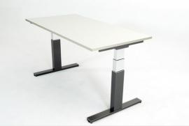 ED1120R | JOB-G, zit-sta bureau/werktafel, gasveer hoogteverstelling traploos 72-120 cm, slag 48 cm, bladmaat 120x80 cm (bxd), hefvermogen 60-80 kg