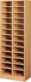 E31022 | PRIMA OFFICE vakkenkast Classic IP-Maxi/625, 2 klommen 26 vakken, vakhoogte 115 mm, afm. 615x400x1800 mm (bxdxh), decor beukenlaminaat