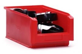 SLK4-3020 | Kunststof magazijnbak 35x21x15 cm (lxbxh), rood, gewicht 413 g
