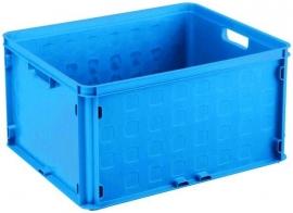 59300011 | Sunware multifunctionele gesloten opbergkrat, afm. 50x40x26 cm (lxbxh), inhoud 52 liter, stapelbaar, kleur blauw, gewicht 1,8 kg