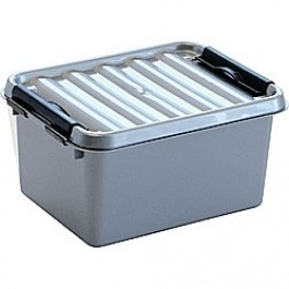 78000628 | SUNWARE Q-Line opbergbox 2,0 liter, metallic/zwart