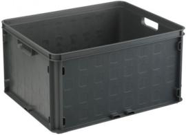 59300336 | SUNWARE multifunctionele gesloten opbergkrat, afm. 50x40x26 cm (lxbxh), inhoud 52 liter, stapelbaar, kleur antraciet, gewicht 1,8 kg