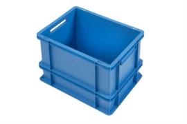 PB4332E-C | PLASTIBAC eurobak gesloten uitvoering, afm. 400x300x325 mm (lxbxh), handgrepen open, stapelbaar, versterkte bodem, inhoud 30l, gewicht 1,80 kg