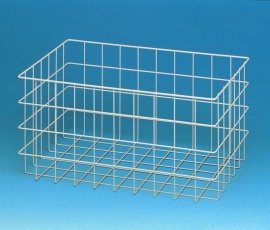20020030 | PROMAIL draadgaas (post)mand, afm. 600x400x300 mm (lxbxh), kleur aluminium RAL 9006