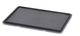 ESD-DE43 |  AUER eurobox antistatische oplegdeksel zonder scharnieren, afm. 400x300x10 mm (lxbxh), zwart