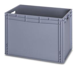 EG6442 | AUER eurobox gesloten uitvoering, afm. 60x40x42 cm (lxbxh), handgrepen open, stapelbaar, RAL 7001 zilvergrijs, inhoud 88 l, gewicht 2,97