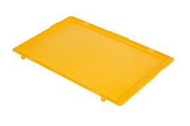 PB64ESC | PLASTIBAC eurobak scharnierend deksel, afm. 600x400x16 mm (lxbxh), gewicht 0,87 kg