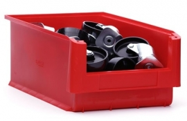 SLK5-3020 | Kunststof magazijnbak 50x31,5x20 cm (lxbxh), rood, gewicht 1020 g