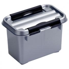 72501228 | SUNWARE Q-Line opbergbox 0,8 liter, zwart/metallic, stapelbaar