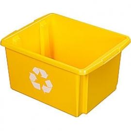 39001246 | SUNWARE Nesta Box Eco, afm. 455x360x240 mm (lxbxh), inhoud 32 ltr, kunststof, kleur geel