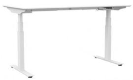ED6160RV | ROL ERGO EasyDesk 650-professional, zit-sta bureau/werktafel met vierkant pootstel, 2 elektrische motoren, hoogteverstelling traploos 65-130 cm, slag 65 cm, blad 160x80 cm (bxd) inclusief, hefvermogen 120 kg