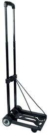 20011 | DEMA opvouwbare trolley met telescopische greep en elastische spanband met bevestigingshaak, draagvermogen 45 kg, opgevouwen 23x44 cm, gewicht 1,7 kg