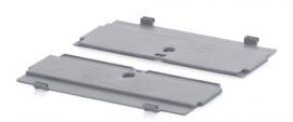 FBDE64 | AUER 2-delig klapdeksel (zelf montage) voor vouwbox FB6422, FB6427, FB6432, FB6442, afm. 60x40 cm (lxb), RAL 7001 zilvergrijs, gewicht 640 g
