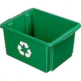 39001247 | SUNWARE Nesta Box Eco, afm. 455x360x240 mm (lxbxh), inhoud 32 ltr, kunststof, kleur groen