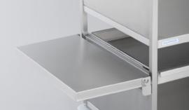 0163255 | HUPFER opklapbaar blad korte zijde voor AfruimMultiMultimobil (AMM), roestvrijstaal, afm. 625x320x40 mm (lxbxh), gewicht 3 kg