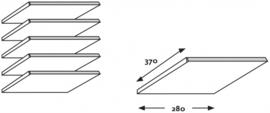 E31W12 | PRIMA OFFICE vakkenkast Classic IP-Maxi/925, 3 kolommen 39 vakken, vakhoogte 115 mm, afm. 915x400x1800 mm (bxdxh), witlaminaat