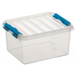 78000611 | SUNWARE Q-Line opbergbox 2,0 liter, transparant/blauw