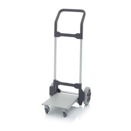 SKRO | AUER transportrollers steekwagen zonder hoogteverstelling, buitenafm. 49x59x112 cm / ingeklapte afm. 49x42x112 cm (bxdxh), gaffel afm. 29,2x37 cm, wielnaaf kogelgelagerd, draaglast 160 kg, gewicht 7,3 kg
