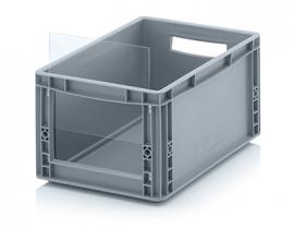 ES4322 | QUALITY BOX insteekbaar zichtvenster geschikt voor Eurobak SLK4322, afm. 22,8x19x0,3 cm, acrylglas, kleurloos, gewicht 152 gr