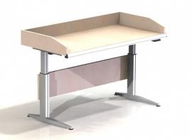 0204001 | PROMAIL poststorttafel, afm. 985x800 mm (bxd), elektrische hoogteverstelling 620-1070 mm, draagvermogen 160 kg