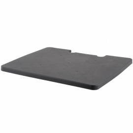 67005 | FOLD-N-ROLL kunststof deksel voor vouwboxtrolley, kleur zwart, eigen gewicht 0,4 kg