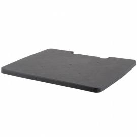 67005 | SUPER-FOLD-N-ROLL kunststof deksel voor vouwboxtrolley XL, kleur zwart, eigen gewicht 0,4 kg