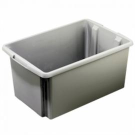Nesta Box, afm. 595x395x290 mm (lxbxd), inhoud 51 ltr, kunststof, kleur zilver